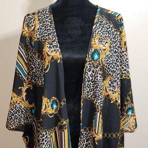Ladies 2X Kimono Cover Up